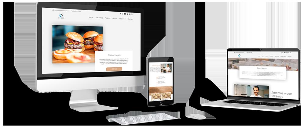 Mockup modelos de sites